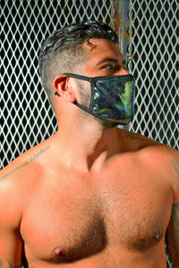 SexyMenUnderwear.com BREEDWELL CYBER Face Masks Fashion Velvet Party Masque Gasoline 6