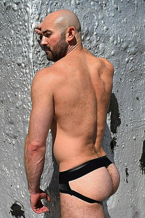 SexyMenUnderwear.com BREEDWELL STUD Jockstrap Rough-Rider Glitter-Flash-Reflect Jock Silver 7