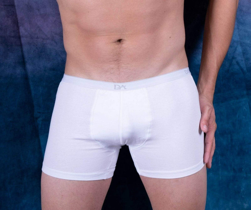 SexyMenUnderwear.com DOREANSE 90% Cotton Mens Underwear Boxer Brief Stretchy Fabric White 1717 12.