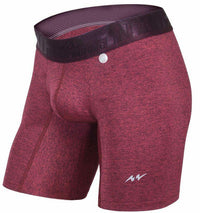 SexyMenUnderwear.com MAO USA Boxer Shorts Gymwear Comfy Athletic Underwear Burgundy 111.9 M4