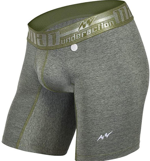 SexyMenUnderwear.com MAO USA Long Boxer Microfiber Compression Short Gymwear Sports Khaky 111.9 M4