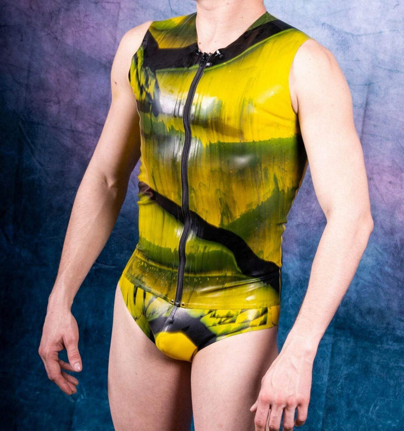 SexyMenUnderwear.com S Mens Briefs TankTop Fetish Mens Rubber Suit Latex Suits Polymorphe Small 11