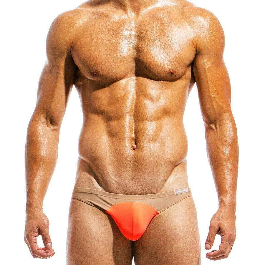 SexyMenUnderwear.com XL Modus Vivendi Mens Swimwear Briefs Mens Swimsuits Nude Low Cut ORANGE IS1811 45