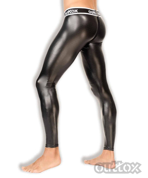 SexyMenUnderwear.com Outtox Maskulo Legging Back Zipper Rear Mens Leggings Fetish WHI LG142-90 18