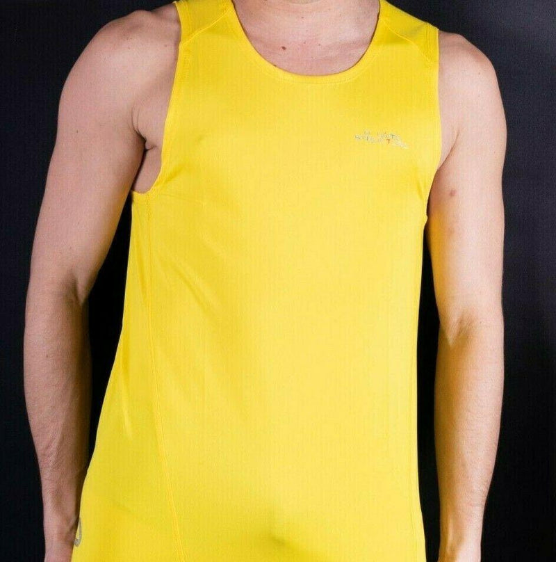 SexyMenUnderwear.com Private Structure Tanktop BeFit Singlet SportsWear Gym Tank-Top Yellow P1