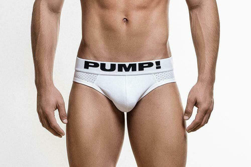 SexyMenUnderwear.com PUMP! Classic Briefs Full Mesh Body Cotton Calzoncillos White 12008 17
