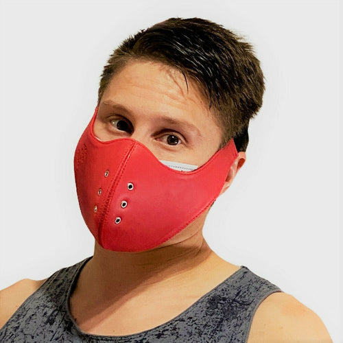 SexyMenUnderwear.com SMU Leather Sexy Men Unisex fetish Canadian Leather Facial Gear