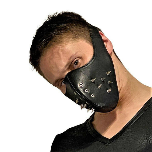 SexyMenUnderwear.com SMU Sexy Men  Leather Punk mask plus Gregg Homme T shirt  Boxer Kit Medium