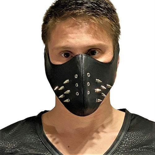 SexyMenUnderwear.com SMU Sexy Men Unisex Canadian Leather Punk mask Black  Costume