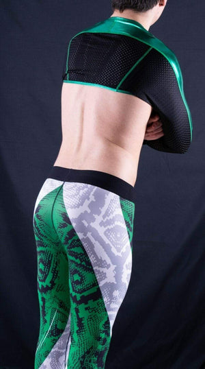SexyMenUnderWear Legging Tight Fit For Men Soft Sports Leggings Fashion Design Meggings Green