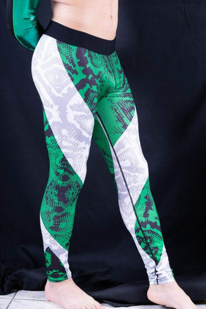 SexyMenUnderWear S Legging Tight Fit For Men Soft Sports Leggings Fashion Design Meggings Green