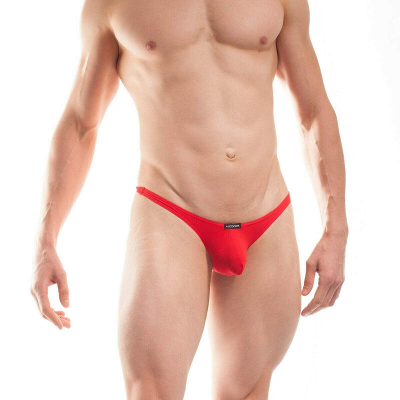 Wojoer WOJOER Mens Strings Super Sexy Beach Thong Push-Up Herren Tangas Red 320B15 1