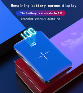 Mini power bank 20000mAh large capacity (Support wireless fast charge)