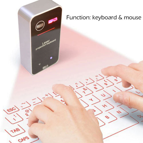 Laser projection bluetooth virtual keyboard