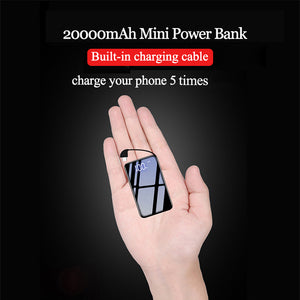 20000mAh Mini Power Bank,Built-in micro cable.