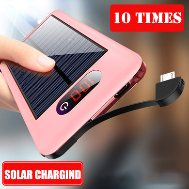 Free Shipping Solar Charging By Light Mini Power Bank 9000mAh