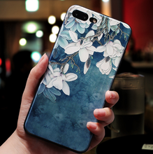 Load image into Gallery viewer, Embossed flower iphone&vivo phone case