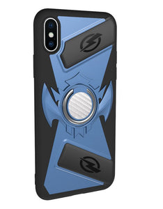 iPhoneX game phone case, imitation leather pattern, car magnetic anti-drop mobile   phone case