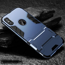 Load image into Gallery viewer, iPhone Case New [Heavy Duty] Tactical Metal Ring Grip Kickstand Shockproof Bumper