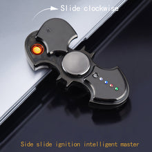 Load image into Gallery viewer, Decompression artifact: fingertip gyro USB electronic cigarette lighter