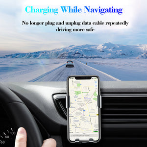 Gravity car phone wireless charging bracket
