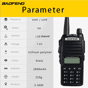 Military quality high power dual-band wireless handheld walkie-talkie