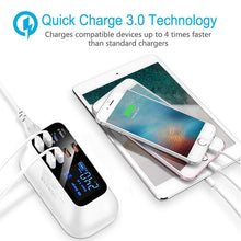 Load image into Gallery viewer, Quick Charge 3.0 Smart USB Type C Charger Station Led Display Fast Charging Power Adapter Desktop Strip Mobile Phone USB Charger