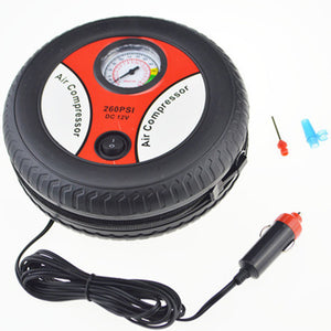 DC 12V Portable Electric Mini Tire Inflator Air Compressor Car Auto Pump