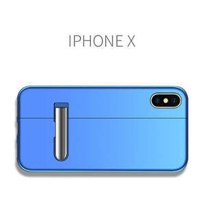 Iphone stitching magnetic king bracket phone case