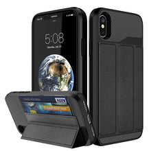 Load image into Gallery viewer, [Military Grade Drop Protection] Flip Leather Cover Card Slot Holder with Kickstand for Apple iPhone【Free Shipping】