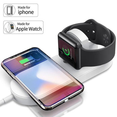 Iwatch and iphone 2-in-1 magnetic wireless charger