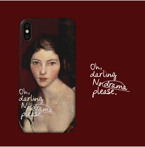 Iphone & OPPO oil painting silicone phone case