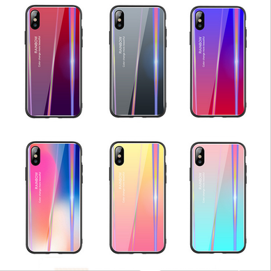 Aurora gradient iphone and oppo phone case