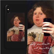 Load image into Gallery viewer, Iphone & OPPO oil painting silicone phone case