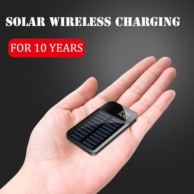 2IN1 Solar Wireless Charging Mini Power Bank 8000mAh