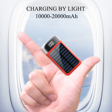 Hot Mini Solar Power Bank 2 USB Charging By Light 10000mAh