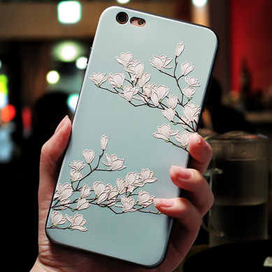 Embossed flower iphone&vivo phone case