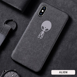 Sports car suede leather iphone phone case
