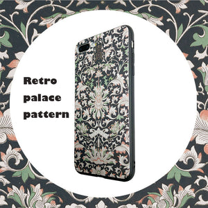 Palace-style engraving iPhone flexible phone case - limited time discount,get free renewable cable!