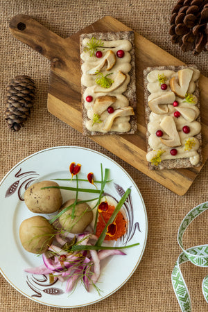 Classical Swedish Holiday menu made with a vegan touch