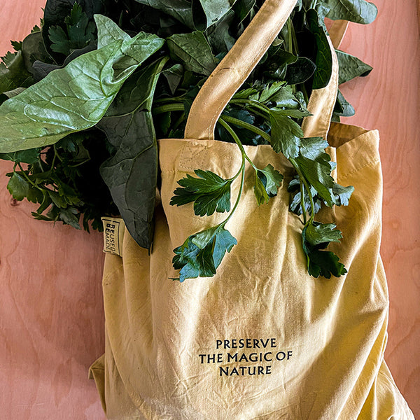 How to dye your used tote bag naturally