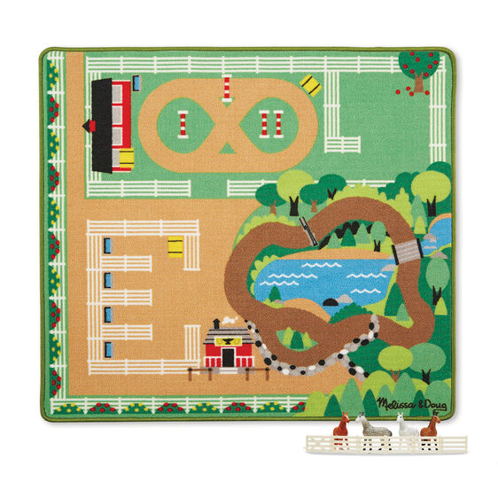 'Round the Ranch Horse Playmat