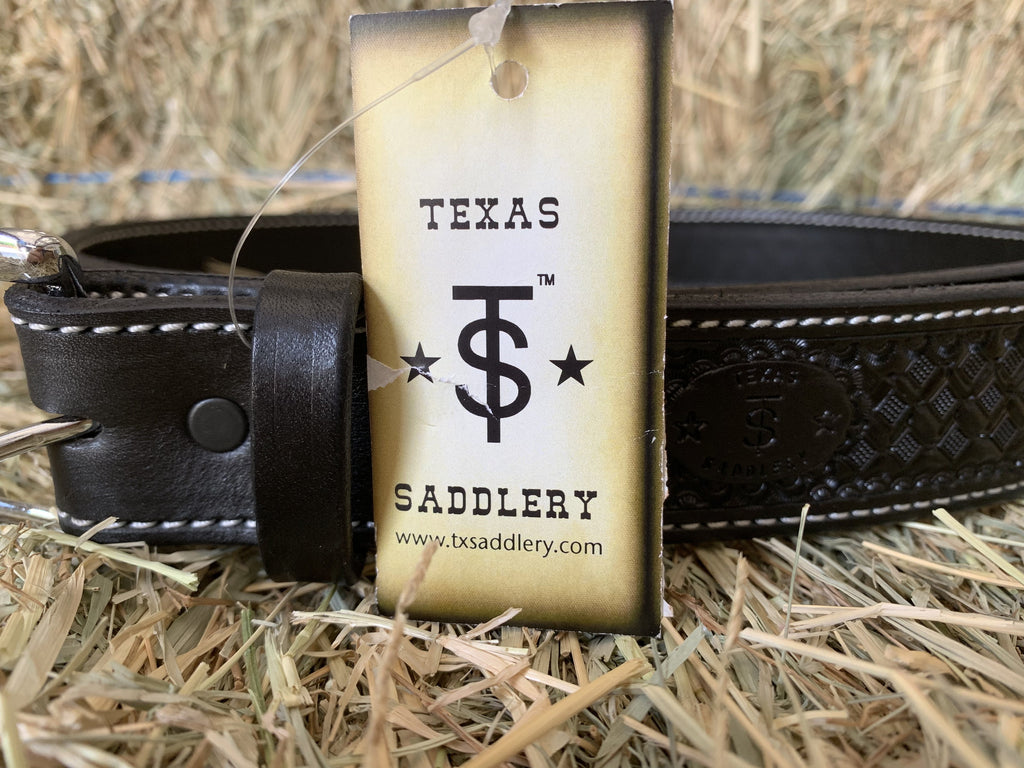 Texas Saddlery Black Basketweave