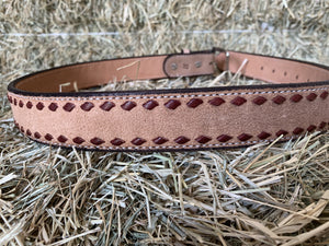 Texas Saddlery Buckstitch Roughout