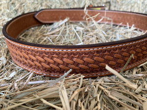TS Tan Basketweave Belt