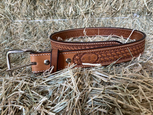 Texas Saddlery Tan Basketweave