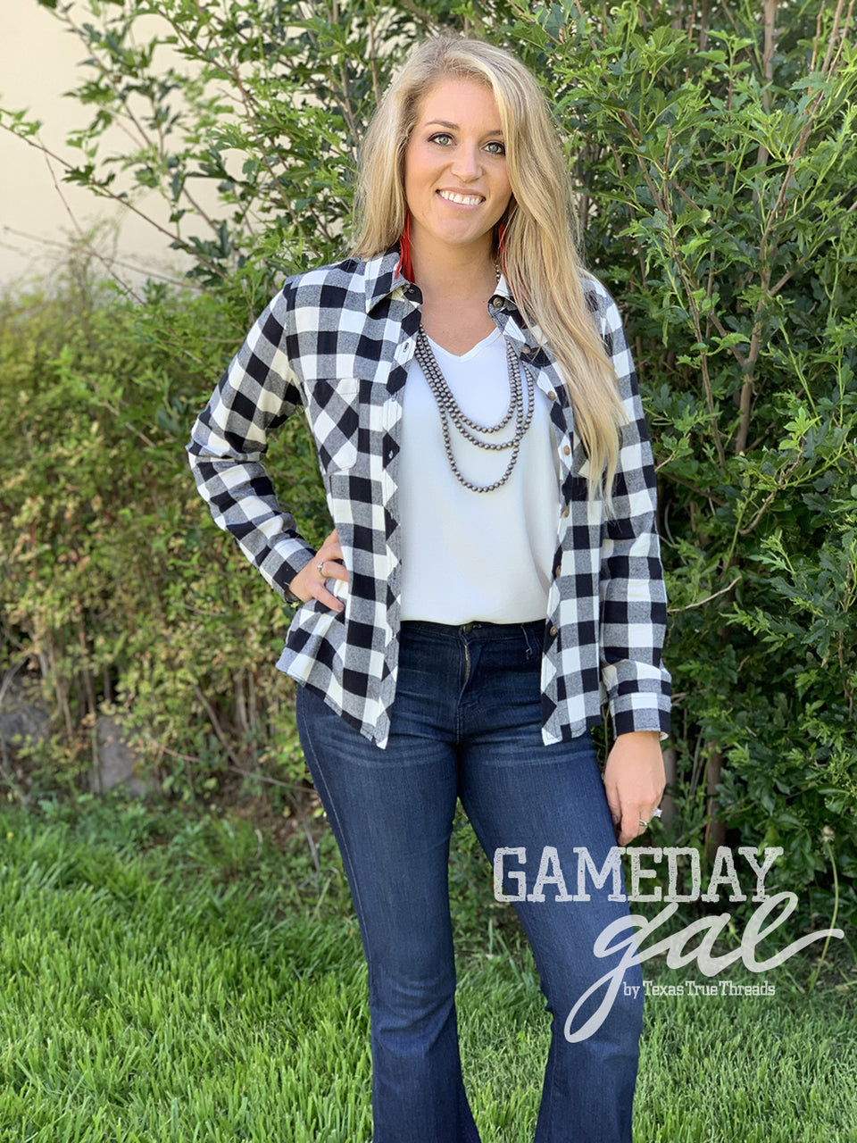 TTT GameDay Gal Melissa Flannel