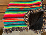 Serape and Leopard Baby Blanket