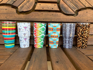 Graphic Print Insulated Tumblers