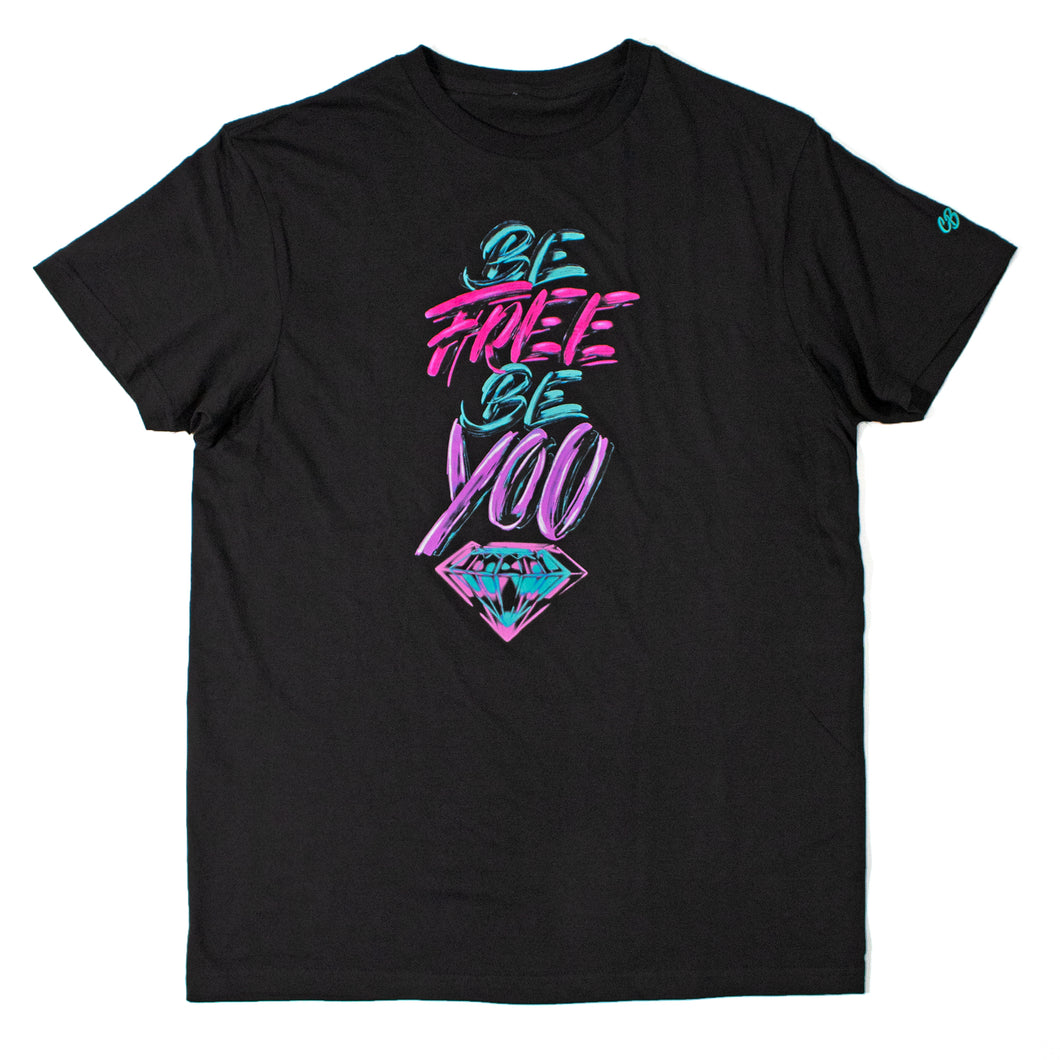 Be Free, Be You Tee - Black